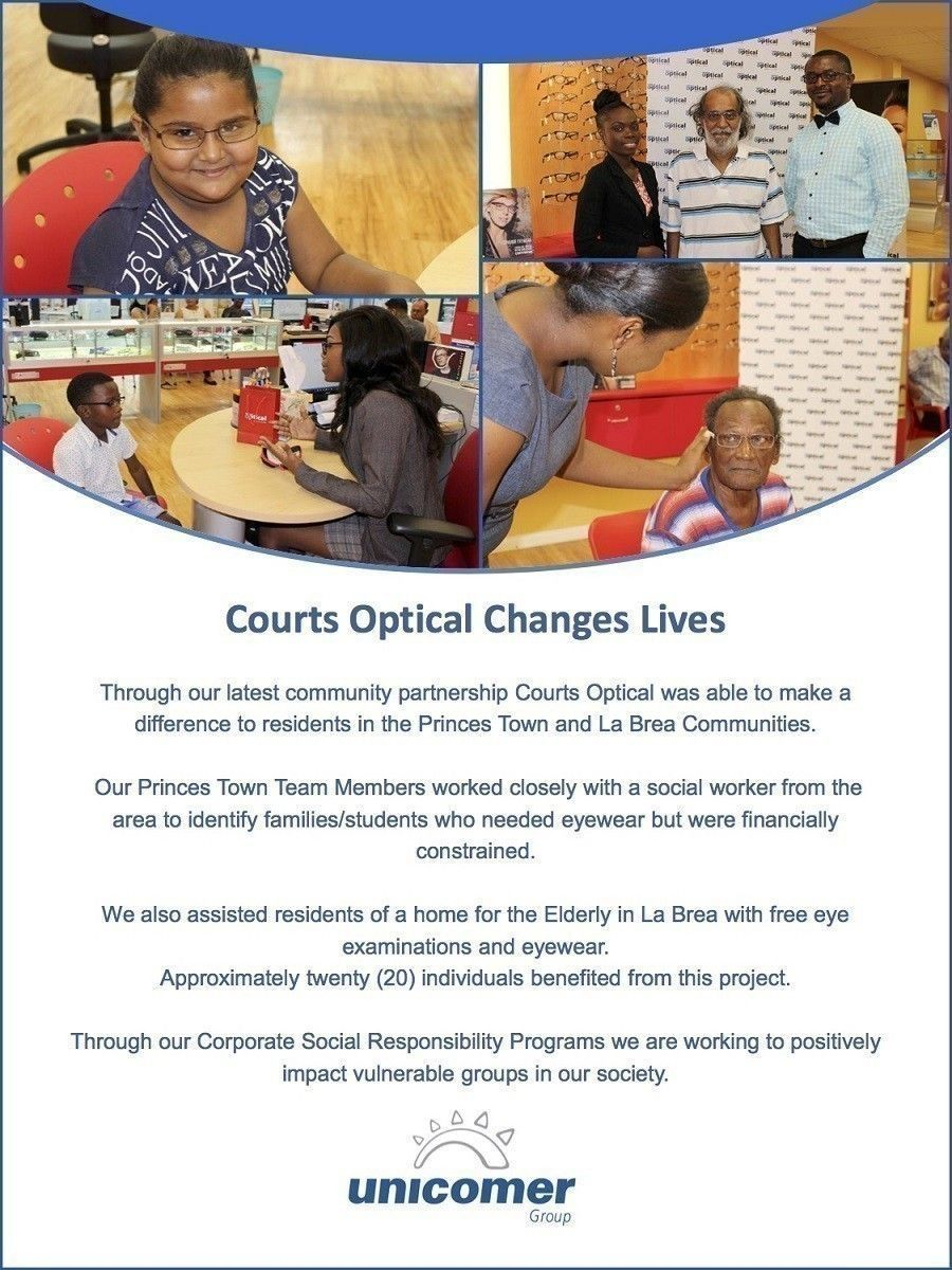 Courts Optical Gives Back