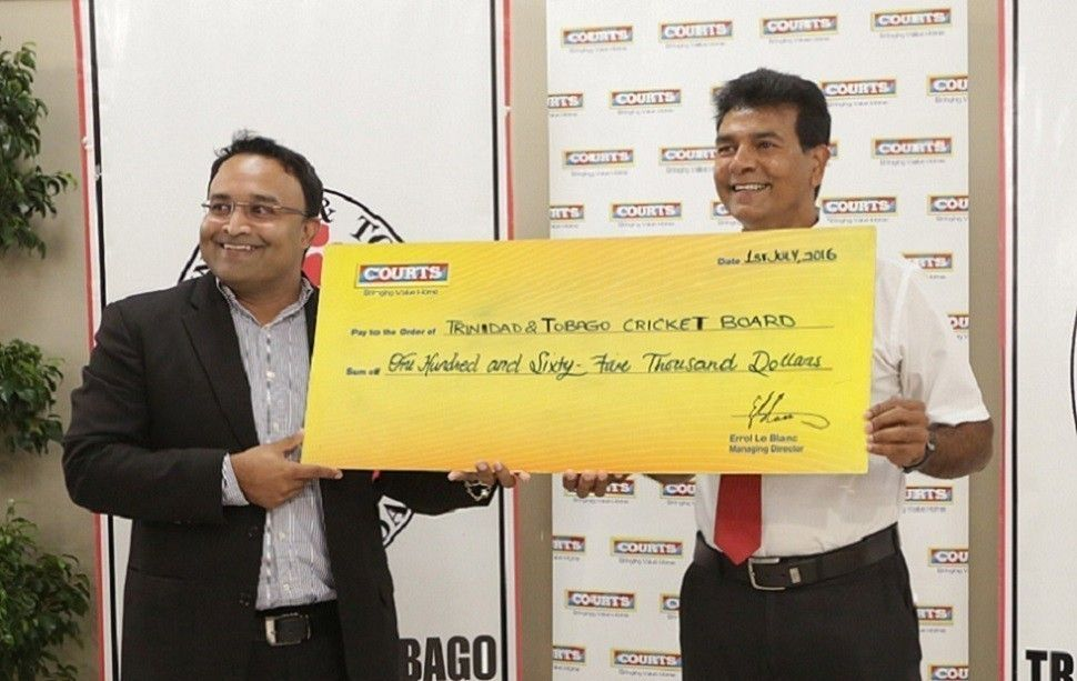 TT- Donates to T&T Cricket Board